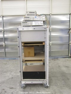 Chip Board Cart with (2) Fluke PM2812, Tektronix 1240 Logic Analyzer and more