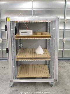 Chip Board Cart andFluke PM 2534 System Multimeter