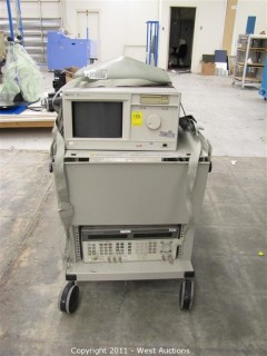 Test Cart with HP 16500A Logic Analysis System and HP 8643A Synthesized Signal Generator