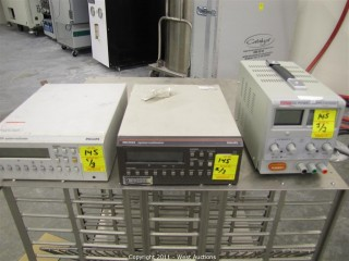 (2) Philips PM 2534 System Multimeters and Trek Power HY3005D Power Supply