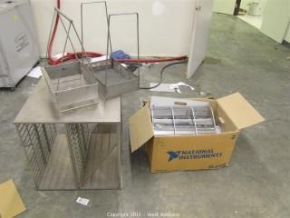 Box of Metal Trays, Metal Tray Holder