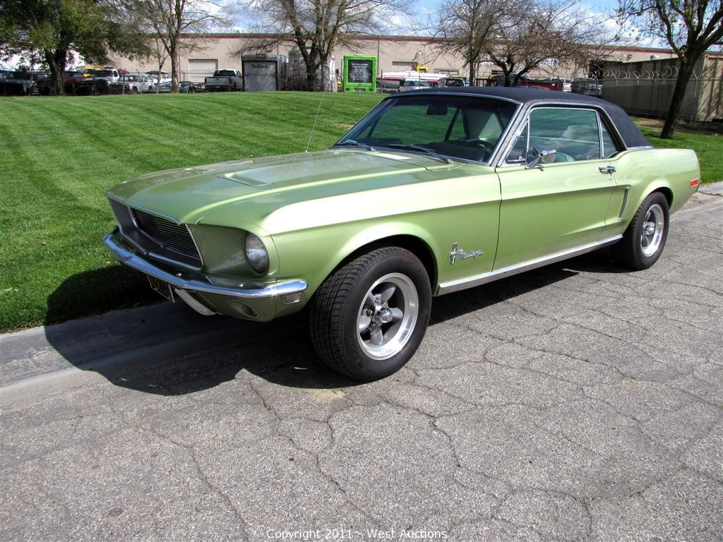 All Types mustang 2 pictures : West Auctions - Auction: 1968 Ford Mustang 2 Door Hardtop ITEM ...