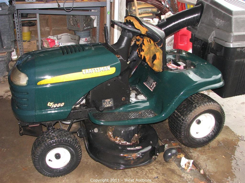 craftsman lawn tractor lt1000. liquidation of sacramento landscaping in sacramento, california craftsman lawn tractor lt1000 0