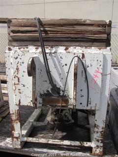 Gar-Bro Concrete Bucket - set up for Skytrack Lift