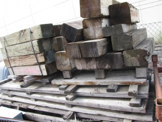 (2) Pallets Short Timber,  (1) Pallet Dual Planks and Stakes for Concrete Forms
