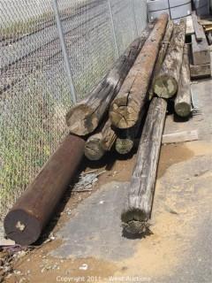 (9) Telephone Poles plus (2) Timbers
