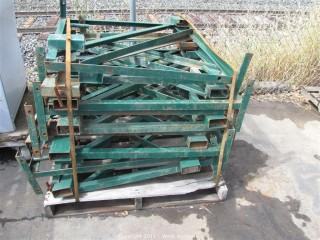 Pallet of Green Scaffold Brackets