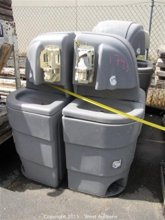 (5) Portable Wash Stations and (2) Electric Service Boxes
