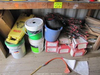 Contents of Area - Chemicals, Snap Ties and Much More