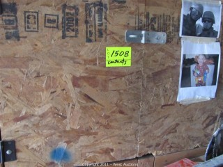 Contents of Wood Cabinet - Sawzall Blades, Drill Bit Sets and Lots of Other Tools and Supplies