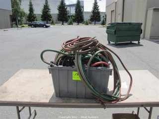 Crate with Blow Torch Hoses and Cutter