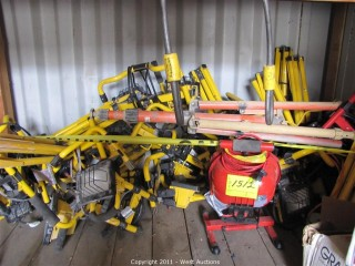 Large Lot of Construction Lights with Tri-pods