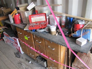 Contents of Cabinet - Various Tools and Supplies