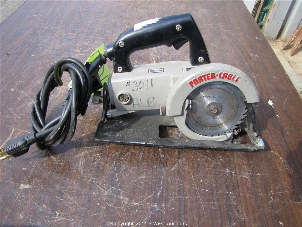 West Auctions Auction Third Of Five Equipment Blowout Auctions In West Sacramento California Item Porter Cable 314 4 1 2 Trim Saw