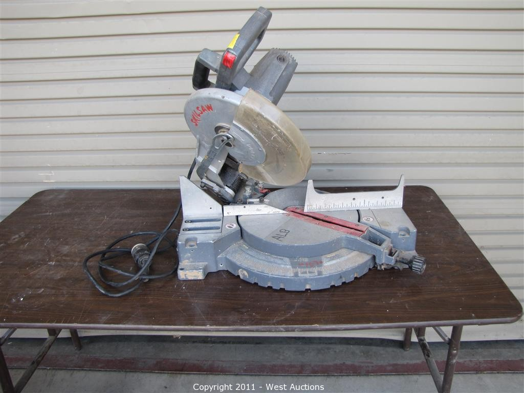 skilsaw miter saw. fourth of five equipment blowout auctions in west sacramento, california skilsaw miter saw