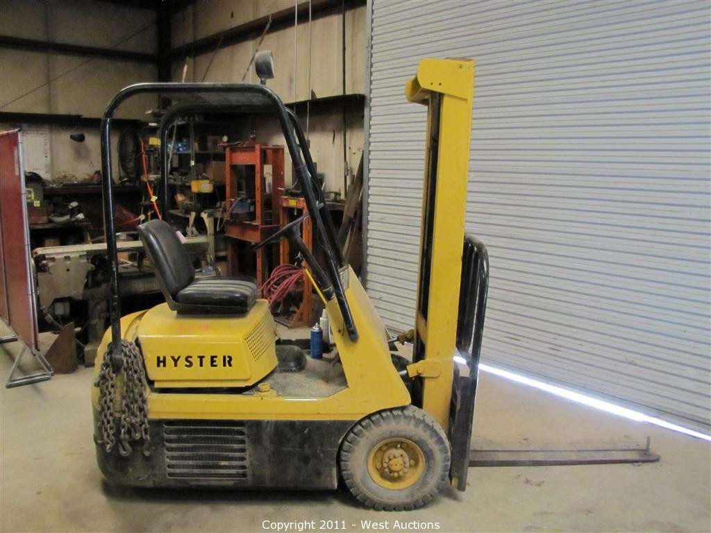 West Auctions Auction Liquidation Of Pacific And Shasta Hyster 30 Forklift Wiring Diagram Nurseries In Anderson California Item H25e 2500 Lbs