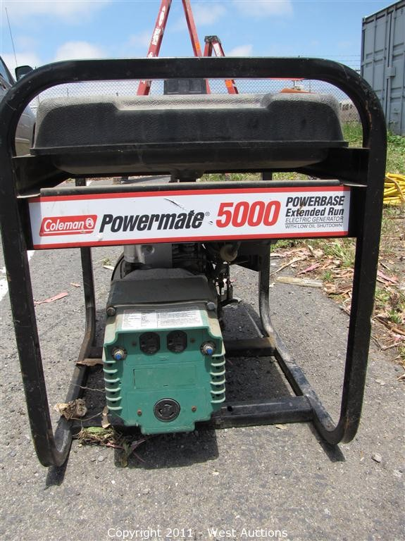 west auctions auction framing contractor in san leandro rh westauction com Coleman Generators 5000 Briggs and Stratton Coleman Powermate 5500 Generator Manual