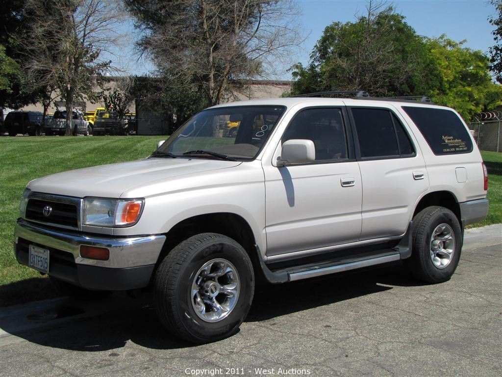 West Auctions - Auction: 1998 Toyota 4-Runner and 2000 Chevy W3500