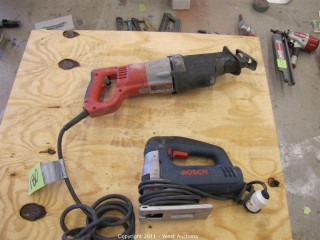 (1) Milwaukee Sawzall and (1) Bosch Jig Saw