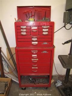 Dayton Rolling Tool Cabinet with Tools and Drill Bits