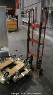Heavy Duty Hand Truck and (4) Floor Dolleys