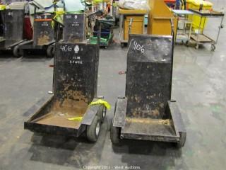 (2) 4-Wheeled Equipment Dollies