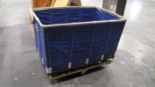 Variety Lot - Steel Frame/Rubberized Canvas Rolling Bin, Assorted Rope