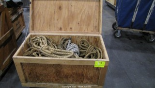 Variety Lot - Rolling Box with Hinging Lid, Assorted Rope