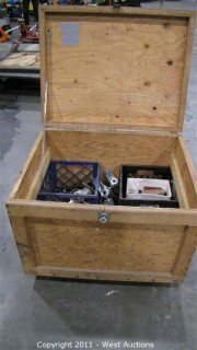 Variety Lot - Rolling Box with Hinging Lid, Washers, Casters