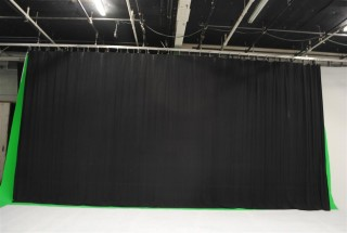 200' of Black Curtain with 160' of Track