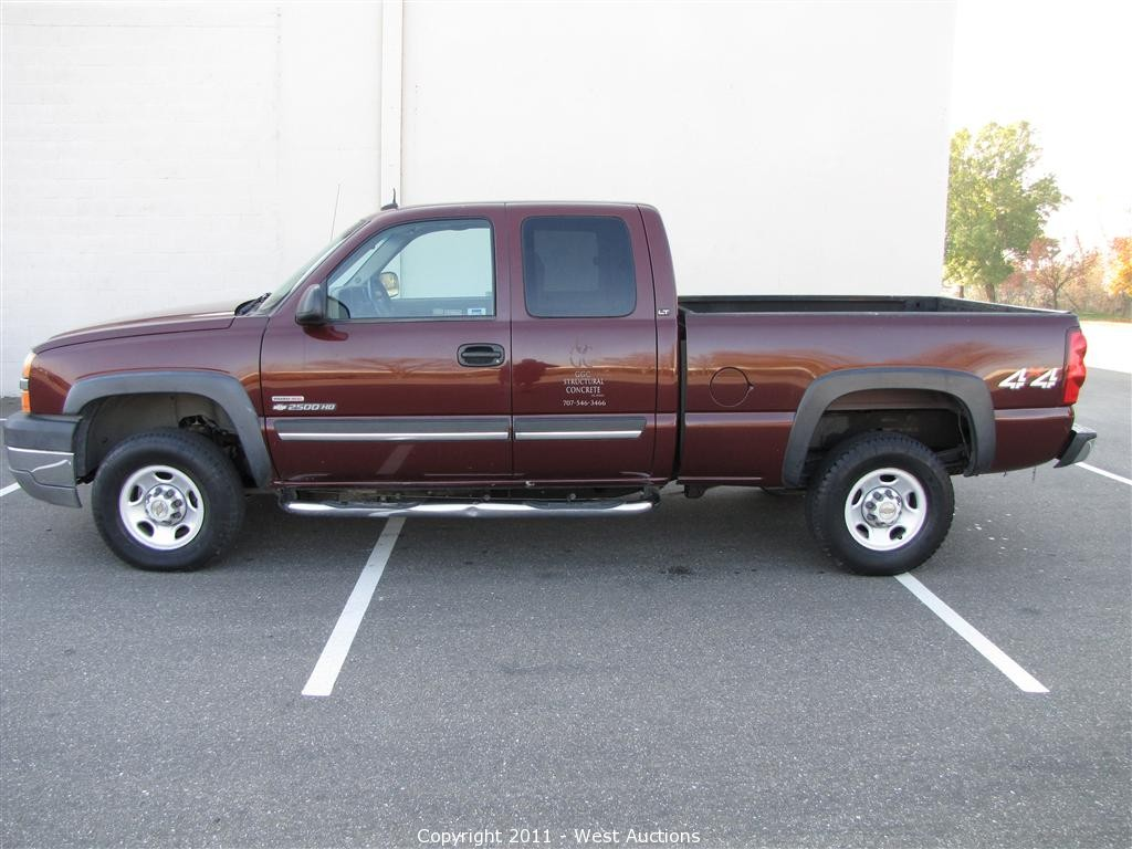 Silverado 2003 chevy silverado extended cab : West Auctions - Auction: Kubota Loader, Mustang Skid Steer ...