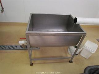 Stainless Steel Filter/Drain Basin