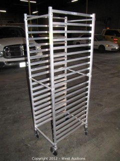 KelMax Aluminum Rolling Pan Rack