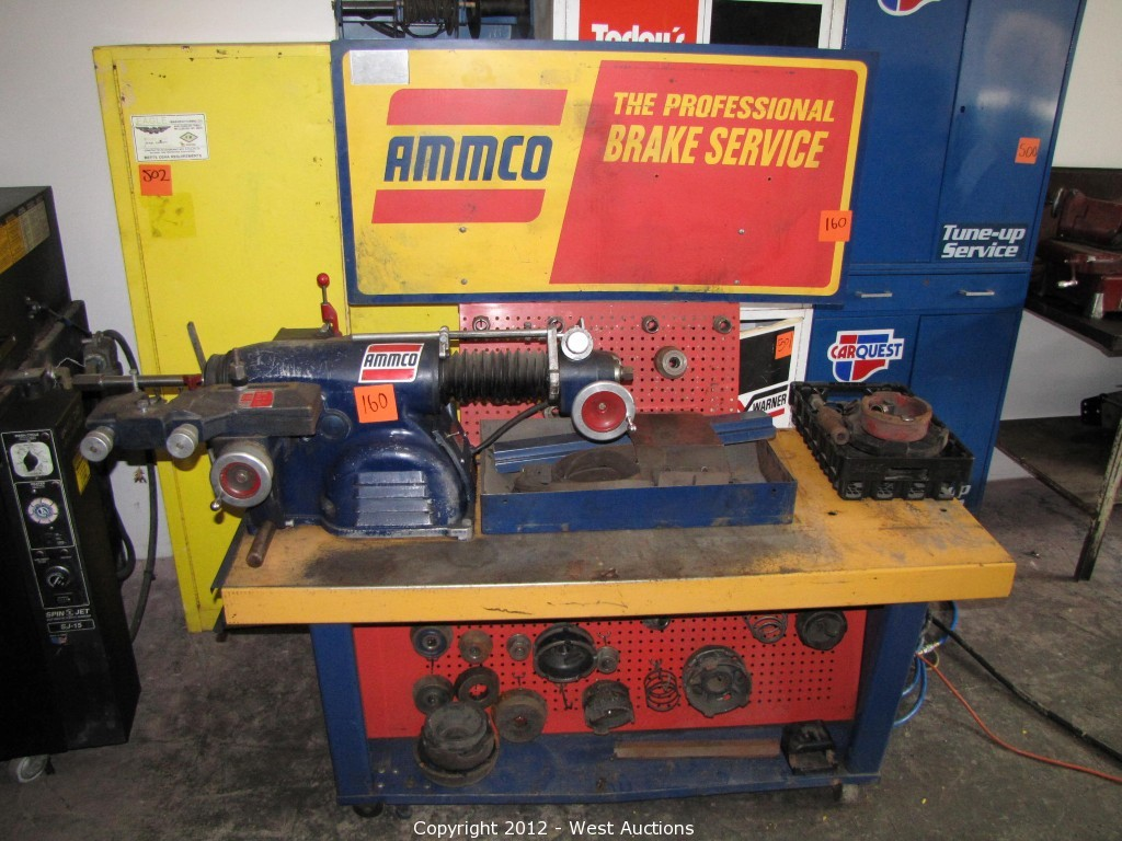 Ammco Brake Lathe >> West Auctions Auction Machine Shop Tools And Equipment Item
