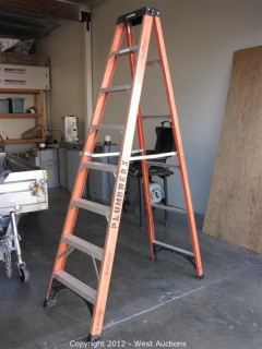 Husky 8' Folding Fiberglass Ladder