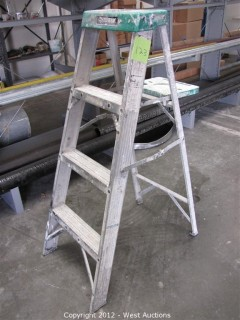 Husky 4' Aluminum Folding Ladder
