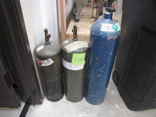 (2) Acetylene Tanks and (1) Carbon Dioxide Tank