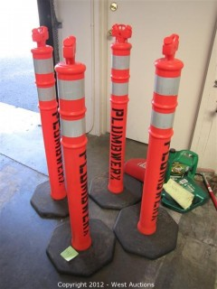 (4) Plastic Construction Poles