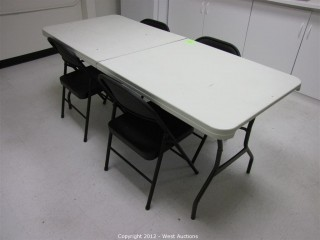 Folding Table and (4) Folding Chairs