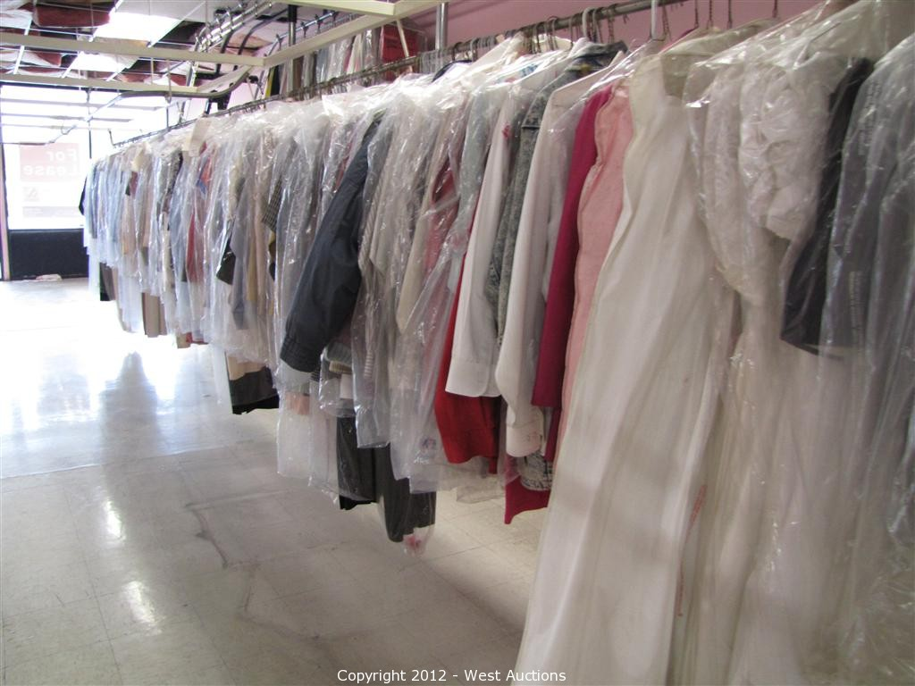 West auctions auction dry cleaning equipment item for Where to dry clean wedding dress