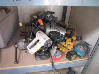 Cordless Drills, Pneumatic Drills, Vice, Belt Sander