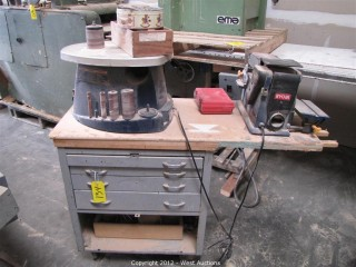 (2) Ryobi Sanders on Rolling Cart with Drawers