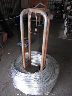 Wire Spool with Chainlink Fence Wire Coil