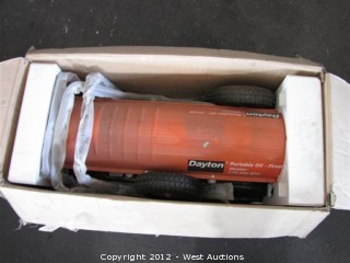Dayton Portable Oil Fired Forced Air Heater
