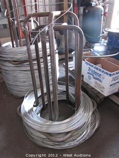 (2) Steel Wire Spools with Wire Stock