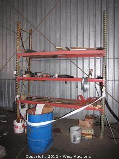 Contents of Pallet Rack and Scrap Metal