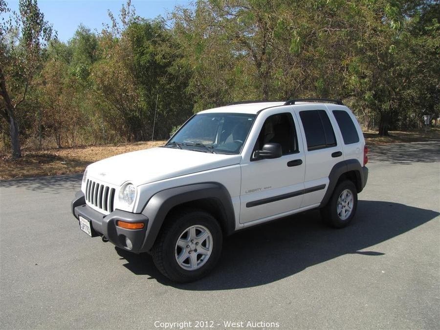 2003 Jeep Liberty Sport >> West Auctions Auction 2003 Jeep Liberty Sport 4x4 Item