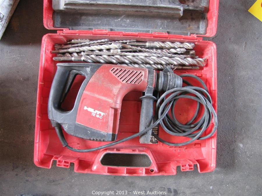 west auctions auction tools from welding and fabrication warehouse item hilti te 16 c roto. Black Bedroom Furniture Sets. Home Design Ideas