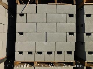 (1) Pallet of  8x8x16 Standard Bond Beam Light Weight Grey Precision