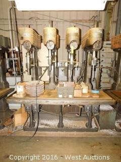 (2) Footburt (4) Spindle Drill Press